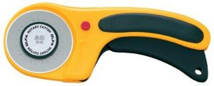 OLFA 60mm Retractable Rotary Cutter Deluxe with Ergonomic Handle