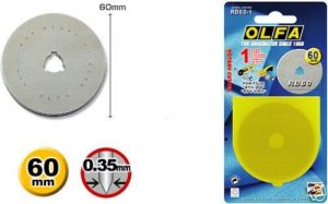 OLFA 60mm Spare Replacement Blade with Protective Case