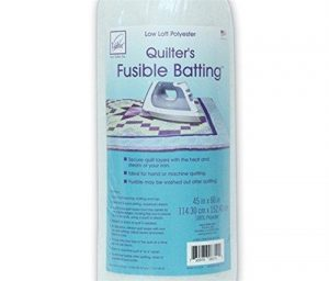 June Tailor Fusible Quilt Batting (Polyester) – Cot Size 45″ x 60″