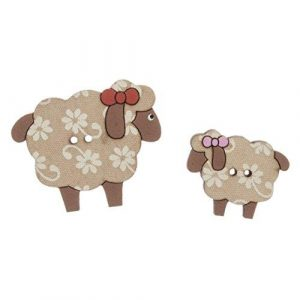 Carded Sheep Buttons
