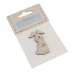 Carded Bunny Button