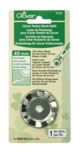 Clover Rotary Blade: Wave: 45mm x 1