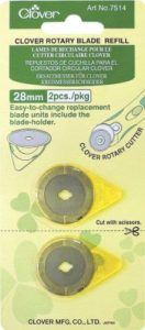 Clover Rotary Blades: Refill Pack: 28.00mm x 2