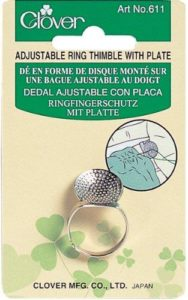 Clover Adjustable Ring Thimble with Plate