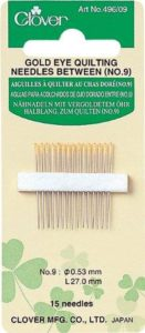 Clover Gold Eye Quilting Needles Betweens: No. 9