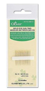 Clover Gold Eye Quilting Needles Betweens: No. 8