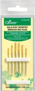 Clover Gold Eye Tapestry Needles No. 18-22