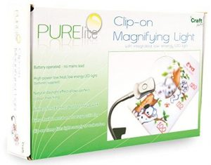 PURElite Mini Clip-on Magnifying Lamp