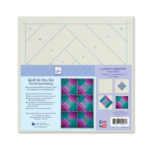 June Tailor London Labyrinth Quilt As You Go 80 20