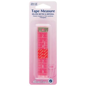 Hemline Deluxe Metric/Imperial Tape Measure
