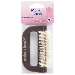 Hemline Mohair Fabric Comb with Hard Bristles