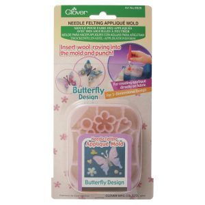 Clover Butterfly Needle Felting Applique Mould