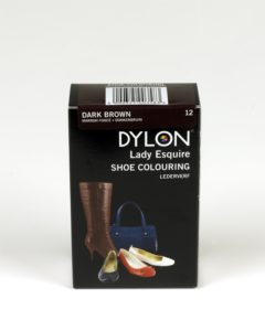 DYLON Lady Esquire Leather & Synthetic Dark Brown Shoe Dye