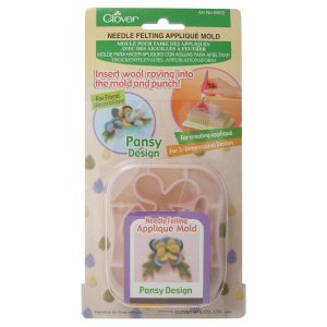 Clover Pansy Needle Felting Applique Mould