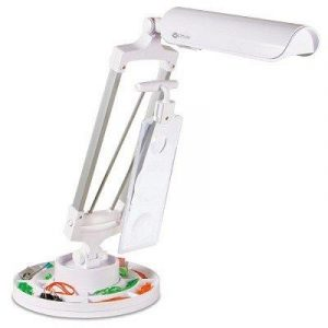 OttLite Spin and Store Desk Lamp with 3 Magnifiers