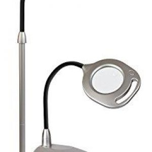 OttLite 2-IN-1 LED Magnifier Floor And Table Lamp Silver