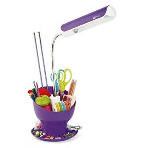 OttLite 13w Craft Space Organizer Lamp Purple