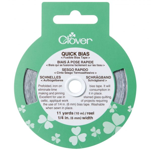 Clover Silver Quick Bias Tape 6mm x 10m