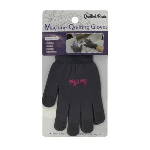Quilted Bear Premium Multi-Purpose Grip Tip Machine Quilting Gloves