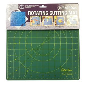 "Quilted Bear Square Rotating Cutting Mat 12"" x 12"" Green"