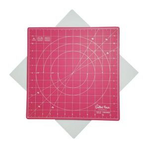 Quilted Bear Square Rotating Cutting Mat Magenta/Pink