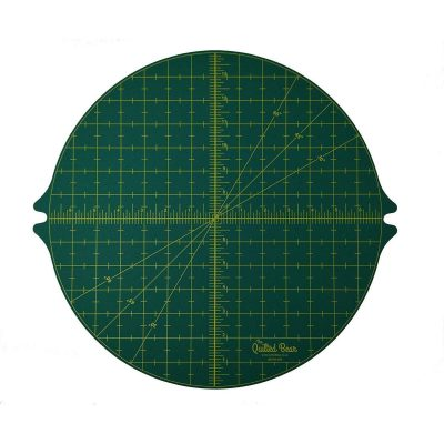 Quilted Bear Square Rotating Cutting Mat Green