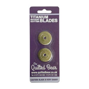 Quilted Bear 28mm Double Titanium Rotary Gold Plated Endurance Blade
