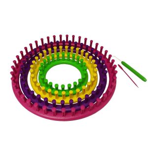 Quilted Bear Round Quick Knit Knitting Loom- Create Scarfs, Hats, Booties & Much More